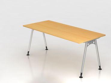 Schreibtisch A-Fuß 180x80cm, Buche