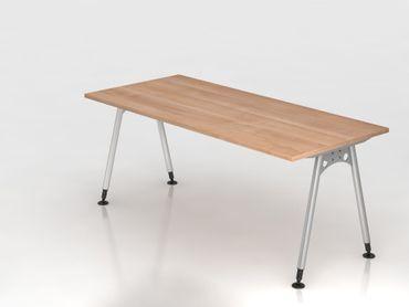 Schreibtisch A-Fuß 180x80cm, Nussbaum