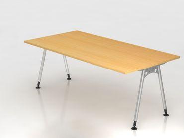 Schreibtisch A-Fuß 200x100cm, Buche