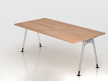 Schreibtisch A-Fuß 200x100cm, Nussbaum