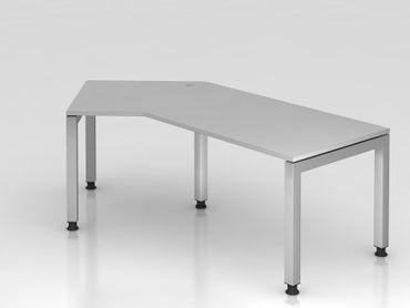 Winkeltisch U-Fuß eckig, 210x113cm, 135°, Grau