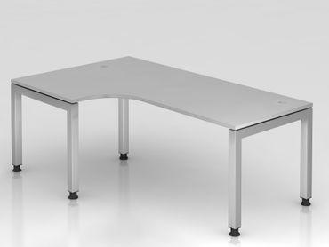 Winkeltisch U-Fuß eckig, 200x120cm, 90°, Grau
