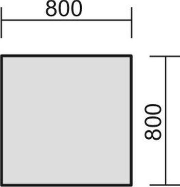 Schreibtisch feste Höhe, 800x800x720, Ahorn/Silber – Bild 2