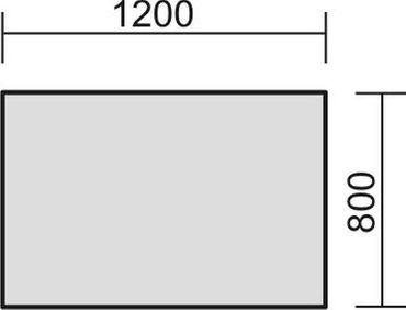Schreibtisch feste Höhe, 1200x800x720, Ahorn/Silber – Bild 2