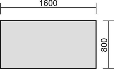 Schreibtisch feste Höhe, 1600x800x720, Lichtgrau/Silber – Bild 2