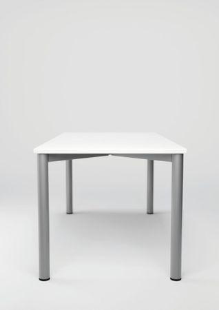 Schreibtisch höhenverstellbar, 1200x800x680-800, Buche/Silber – Bild 5