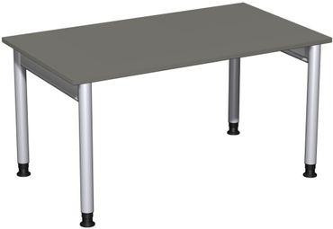 Schreibtisch höhenverstellbar, 1400x800x680-820, Graphit/Silber – Bild 1