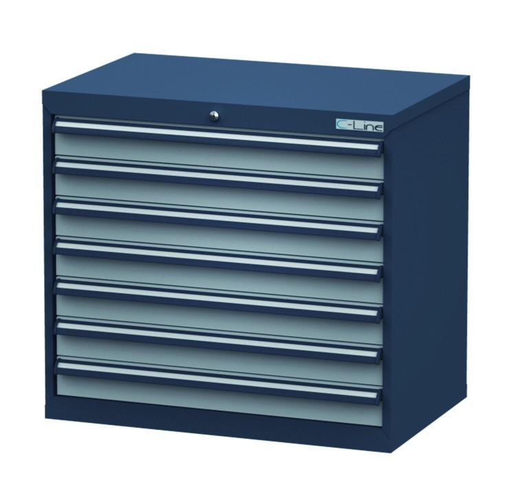 Schubladenschrank Höhe 820 mm, 7 Schubladen, CL9H080700 ...