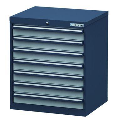 Schubladenschrank Höhe 820 mm, 7 Schubladen, CL7H080700