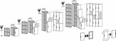 Regal mit Standfüßen, 400x400x1104, Lichtgrau – Bild 6