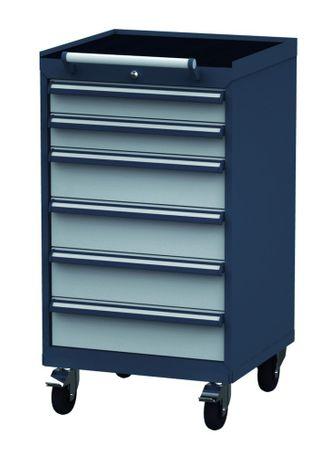 Mobiler Schubladenschrank Höhe 1090 mm, 6 Schubladen, CL6H090240M – Bild 1