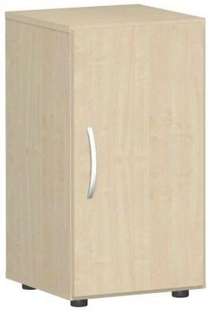 Flügeltürenschrank, Büroschrank aus Holz, mit Standfüßen, Griff links oder rechts, inkl. Türdämpfer, nicht abschließbar, 400x420x752, Ahorn/Ahorn – Bild 1