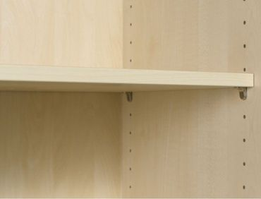 Flügeltürenschrank, Büroschrank aus Holz, mit Standfüßen, inkl. Türdämpfer, abschließbar, 800x420x2160, Ahorn/Ahorn – Bild 5