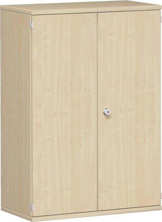 Flügeltürenschrank, Büroschrank aus Holz, 2 Dekor-Einlegeböden, abschließbar, 800x425x1152, Ahorn/Ahorn – Bild 1