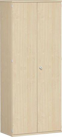 Flügeltürenschrank, Büroschrank aus Holz, 4 Dekor-Einlegeböden, abschließbar, 800x425x1920, Ahorn/Ahorn – Bild 1