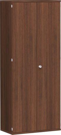 Flügeltürenschrank, Büroschrank aus Holz, 4 Dekor-Einlegeböden, abschließbar, 800x425x1920, Nussbaum/Nussbaum – Bild 1
