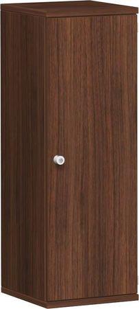Flügeltürenschrank, Büroschrank aus Holz, 2 Dekor-Einlegeböden, abschließbar, Schloss links, 400x425x1152, Nussbaum/Nussbaum – Bild 1