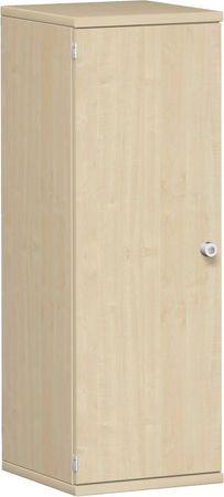 Flügeltürenschrank, Büroschrank aus Holz, 2 Dekor-Einlegeböden, abschließbar, Schloss rechts, 400x425x1152, Ahorn/Ahorn – Bild 1