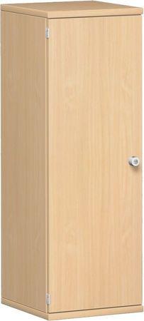 Flügeltürenschrank, Büroschrank aus Holz, 2 Dekor-Einlegeböden, abschließbar, Schloss rechts, 400x425x1152, Buche/Buche – Bild 1