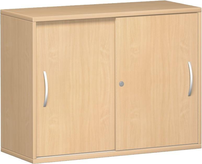 Anstell-Schiebetürenschrank Büro, Büroschrank aus Holz,mit ...