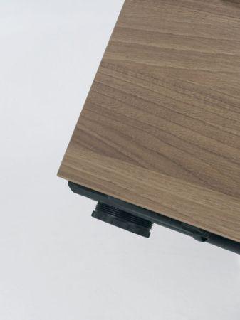 Standcontainer mit 4 Metall-Schubfächern und 1000 mm Abdeckplatte, Utensilienschubfach, Metall-Rollschubführung, Zentralverriegelung, 438x1000x720, Buche/Buche/Buche – Bild 5