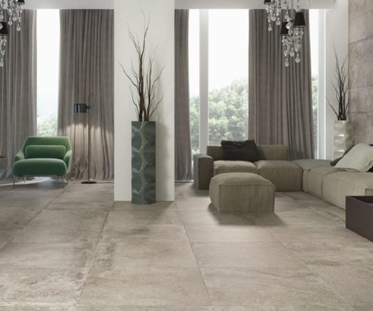 Bodenfliese Castelvetro Always grigio rett 60 x 120 cm