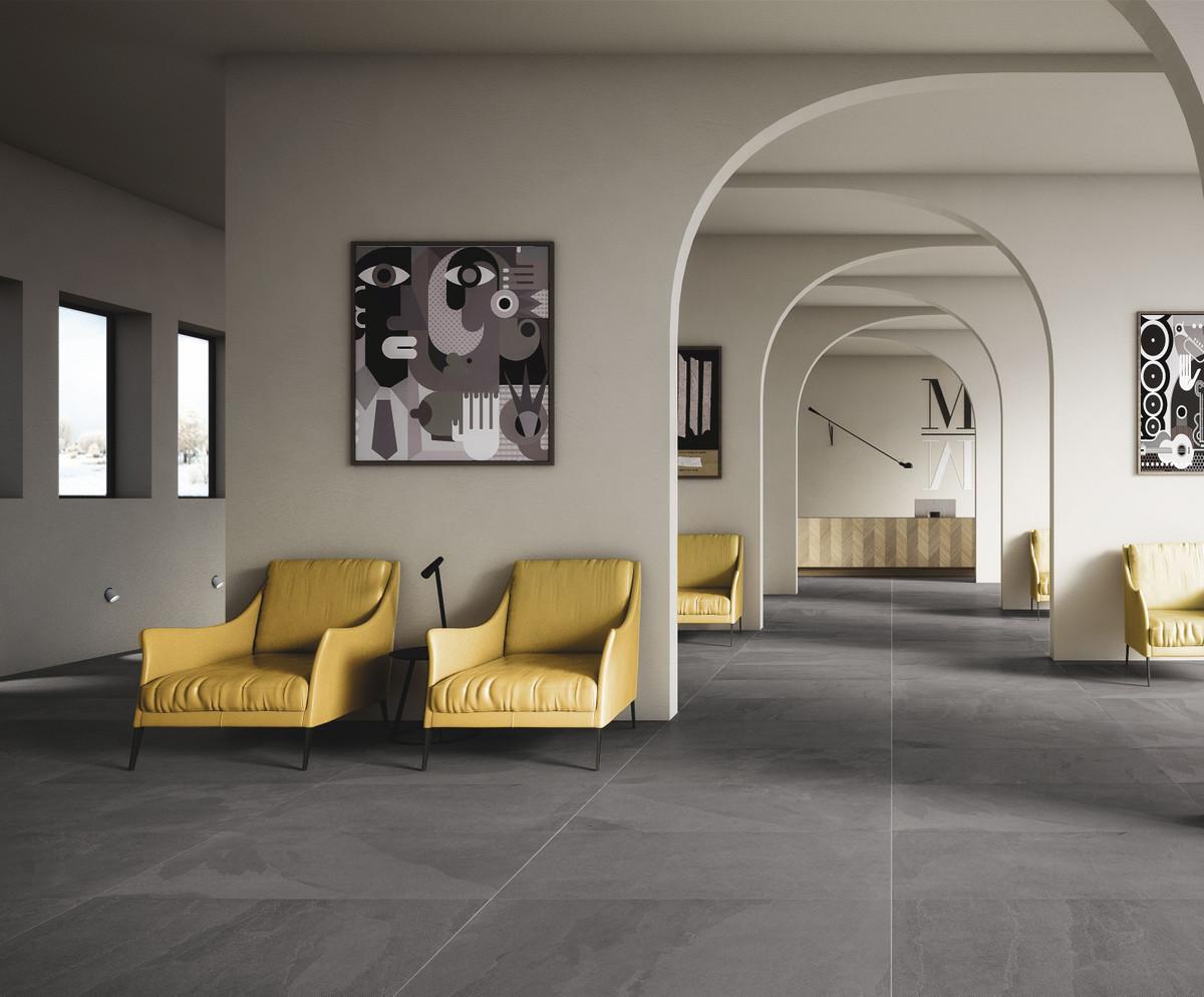 Bodenfliese Gazzini Slide grey 40 x 80 cm – Bild 1