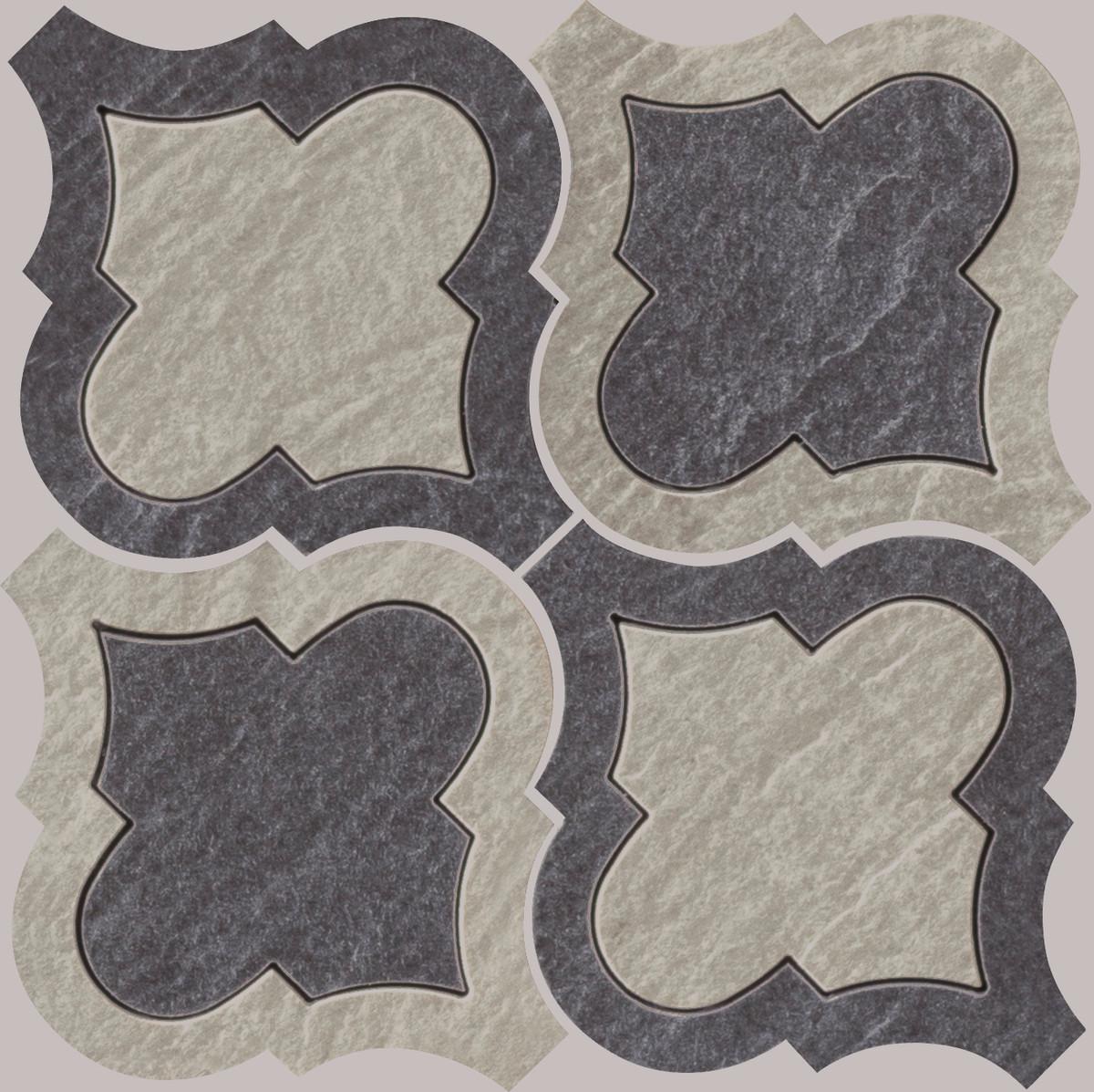 Mosaik Gazzini Slide Intarsio Black/white 21 x21 cm