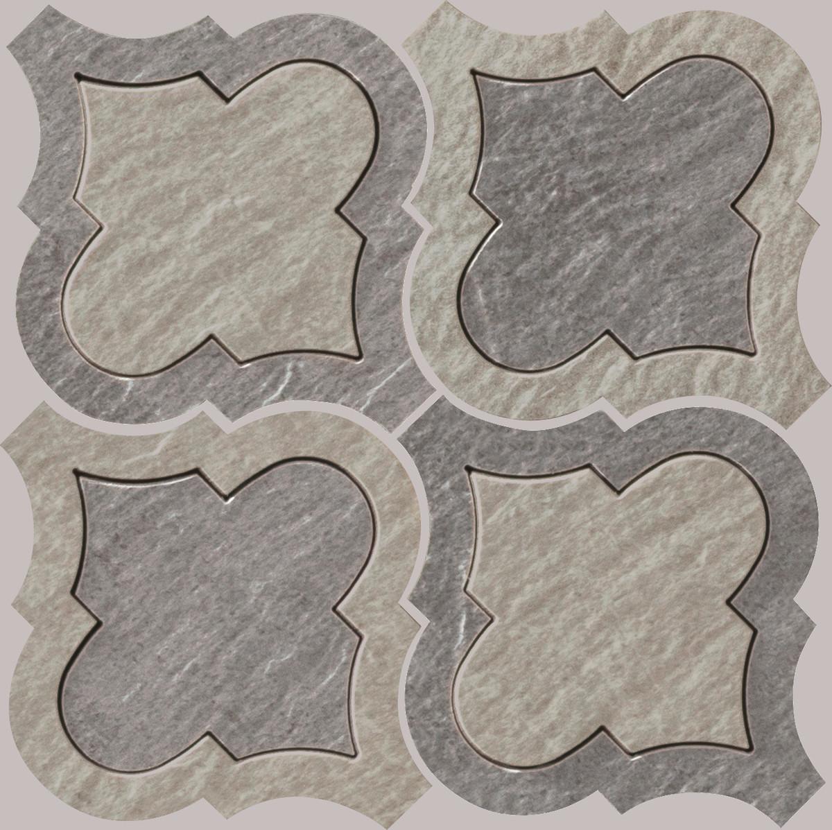 Mosaik Gazzini Slide Intarsio Grey/white 21 x21 cm