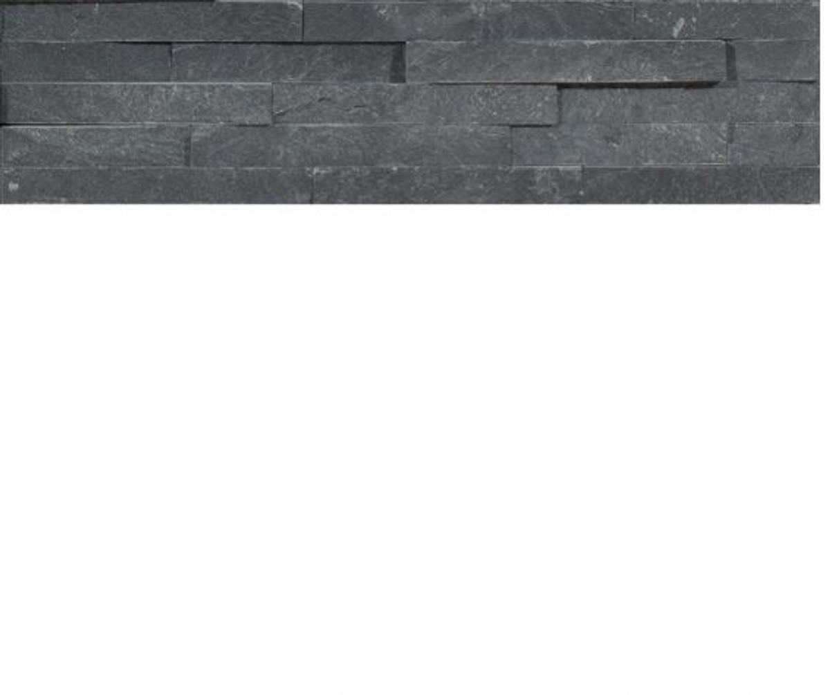 Naturstein Wandverkleidung Schiefer schwarz