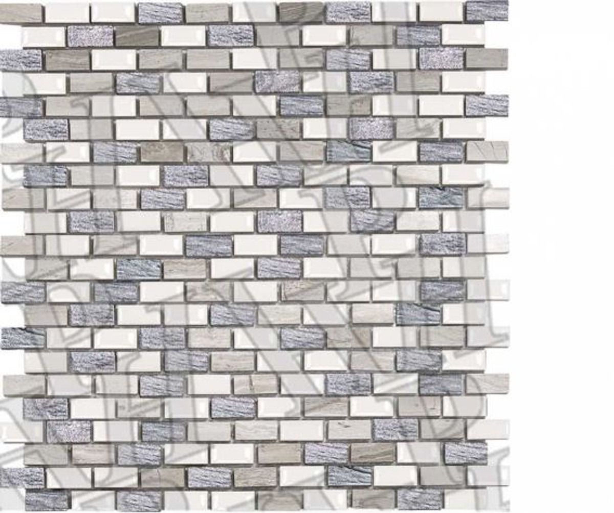 Mosaik Placke Mini Brick 2 anticato 30 x 30 cm