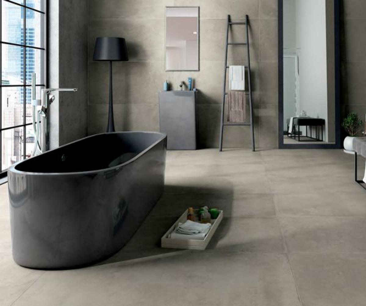Bodenfliese Castelvetro Fusion cemento rett 40 x 80 cm – Bild 1