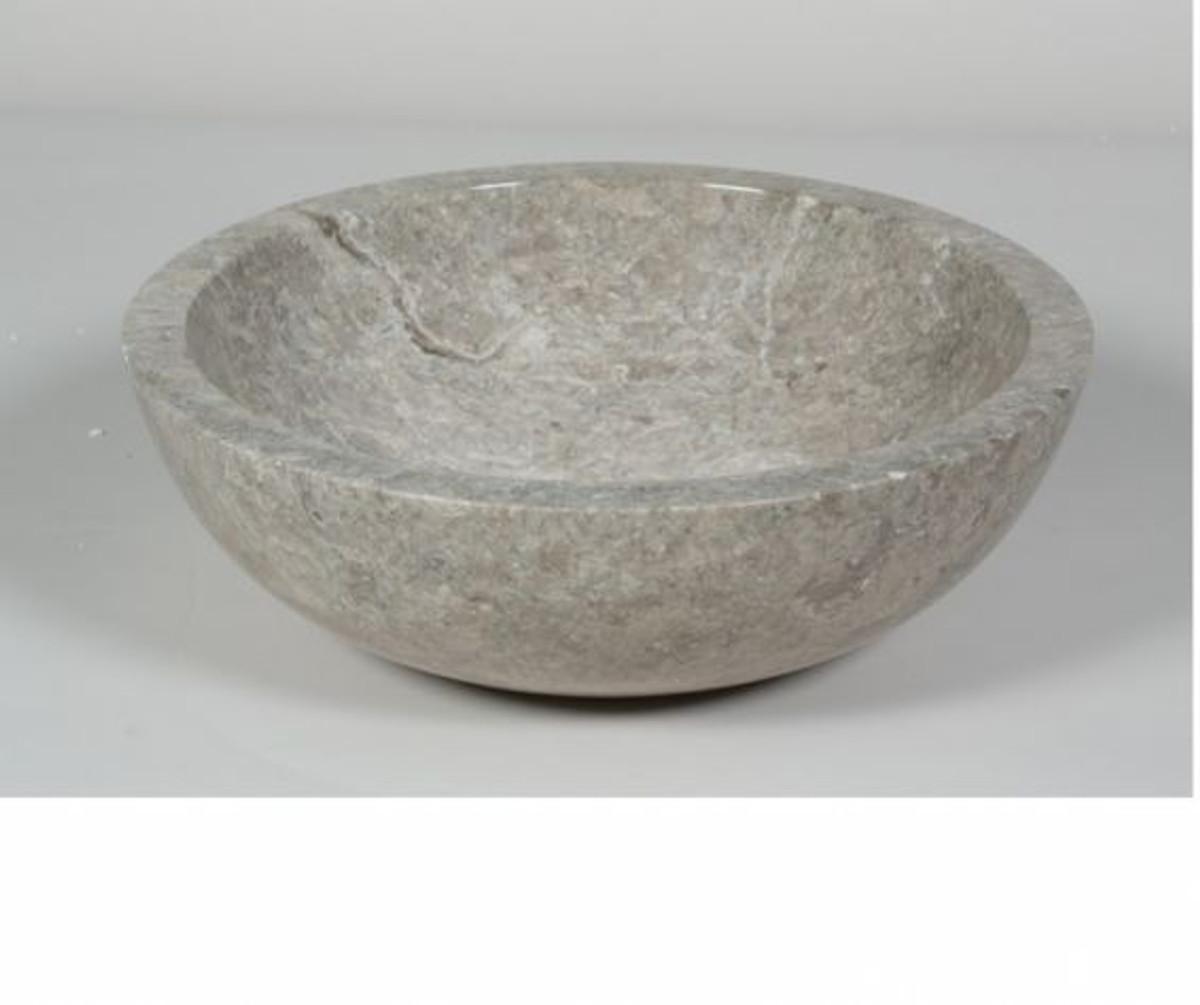Naturstein Waschbecken Tondo grau braun