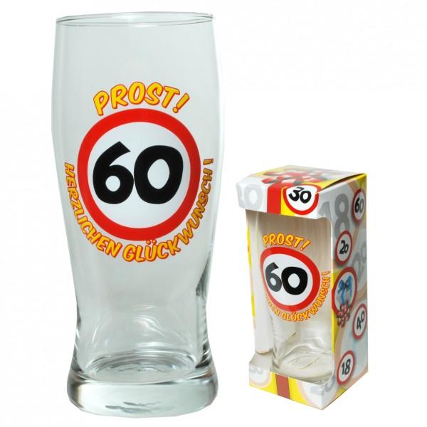 Scherzartikel Glas 60 Geburtstag Prost Herzlichen Gluckwunsch