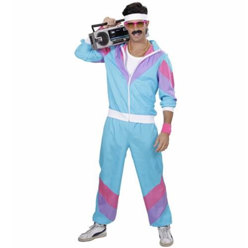 Trainingsanzug Anzug 80er Herren Suit Jogginganzug Hose Jacke Kostüm