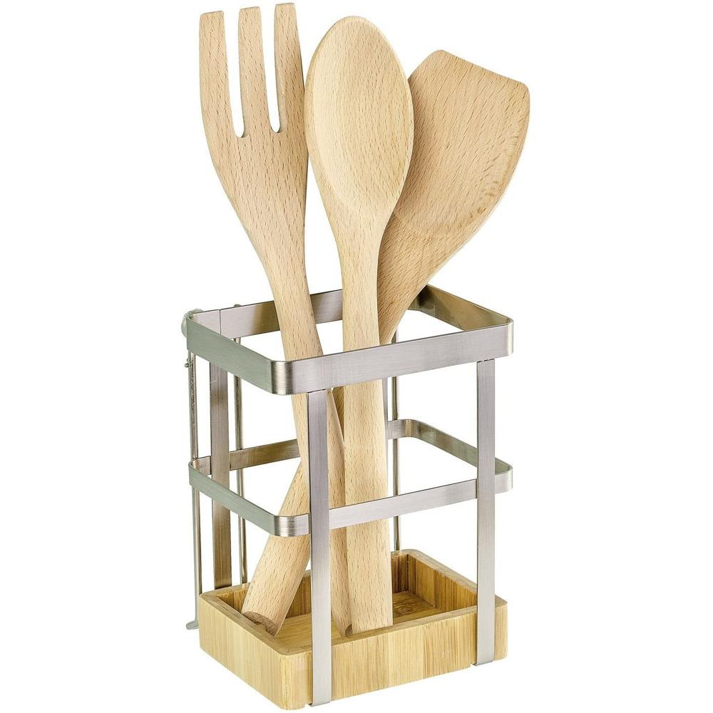 WENKO Utensilienhalter Premium Aufbewahrungskorb für die Küche 15 x 15 x 15  cm  EMAKO