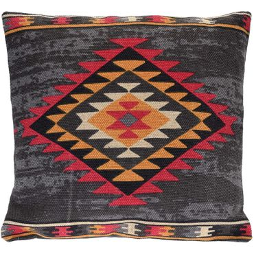 Home Styling Collection, Dekoratives Kissen BOHO, 45 x 45 cm - Graphitfarbe