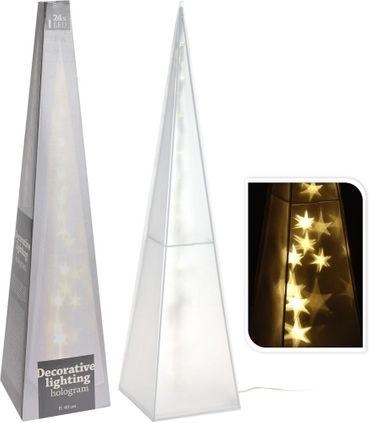 LED-Pyramide mit Hologramm-Beleuchtung