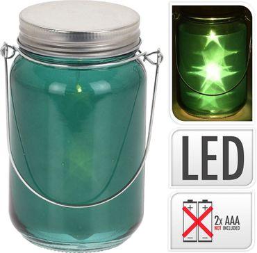 Deko Glas LED 14x8x8 cm
