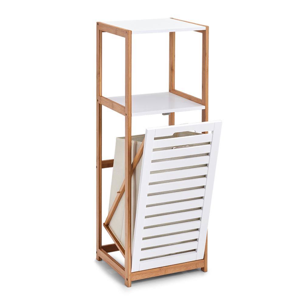 Bambusregal für das Badezimmer, Bücherregal mit Wäschekorb, Leiter Gestell.