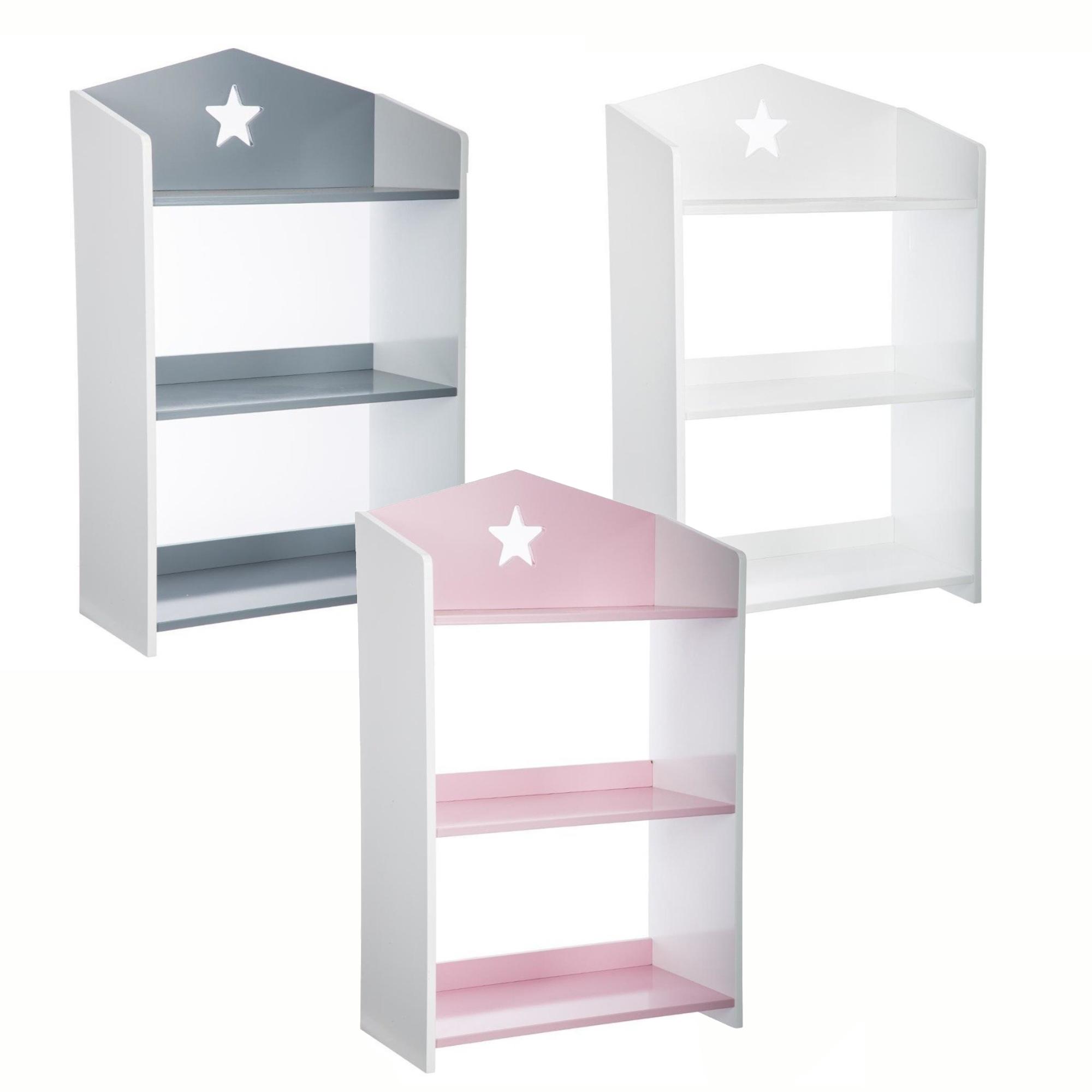 Details About 3 Tier Storage Shelf Bookcase Children Kids Furniture Shelving Unit Bookshelves