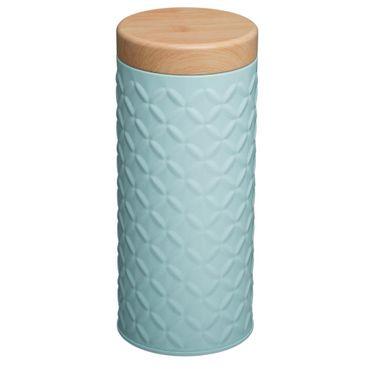 Runder Behälter aus Metall für lose Produkte - grau, Ø 7,5 x 17,5 cm