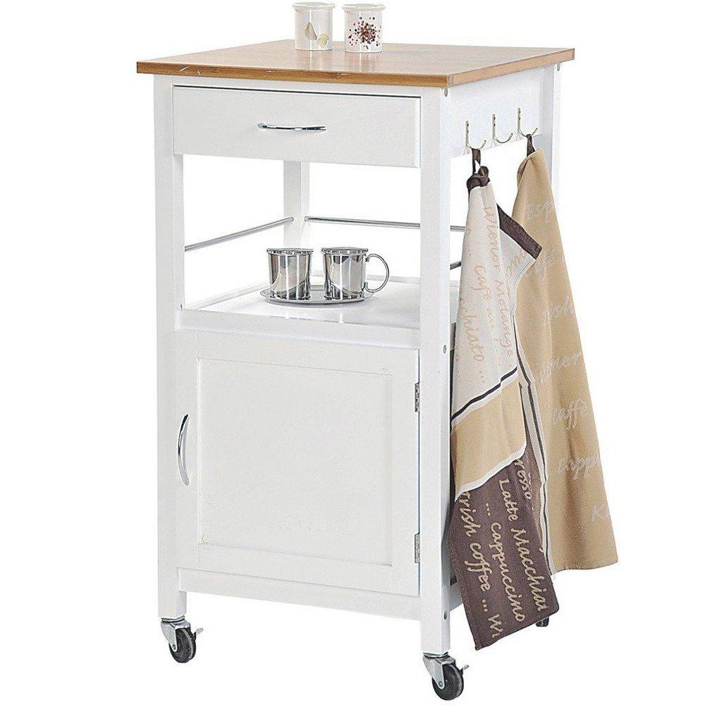 Küchenwagen weiß, lackiert, Kesper