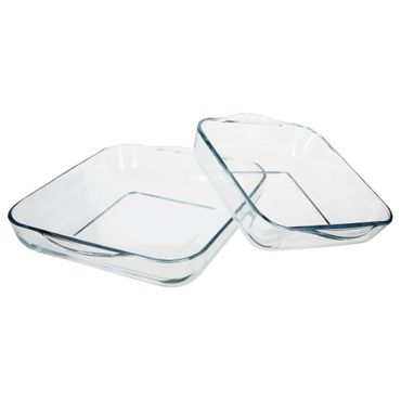 SQUARE BAKING DISH X2