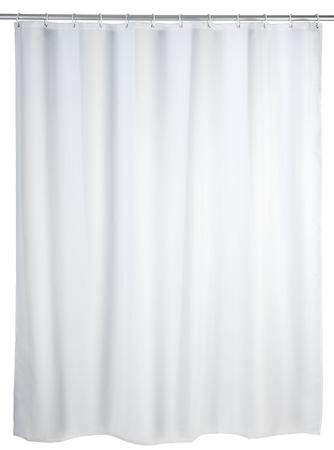 Wenko, Duschvorhang Uni white - Anti-Schimmel/Anti-Bakteriell, Polyester