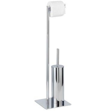 Wenko Stand WC-Garnitur Recco, Stahl, 20 x 71.5 x 20 cm, Chrom