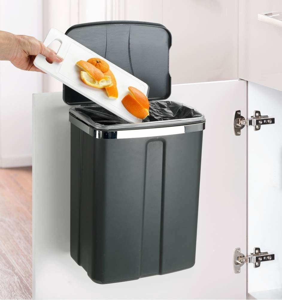 Mülltonne Küche Abfalleimer Hängend Grau 12l