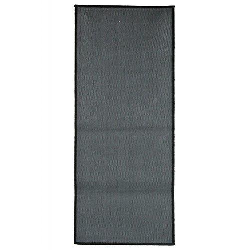 50x120 cm Badteppich TAPIS UNI schwarz