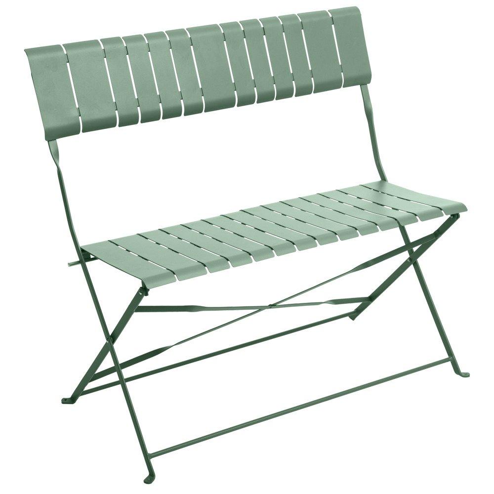 Gartenbank Aus Metall Klappbar 2 Sitzer Gelb Emako