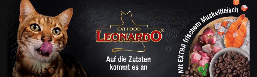 Leonardo Katzenfutter mit frischem Fleisch